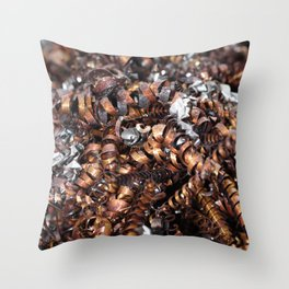 Copper cuttings Throw Pillow