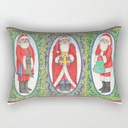 Three Santas Rectangular Pillow