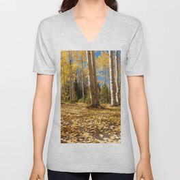 Crested Butte Colorado Fall Colors Panorama - #1 Unisex V-Neck