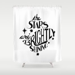 The Stars are Brightly Shining Shower Curtain