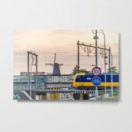 Sunrise Commute Metal Print