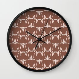 Abstract Cows Pattern Wall Clock