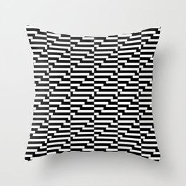 Mariniere marinière bw wave version 2 Throw Pillow