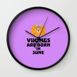 Vikings are born in June T-Shirt Dni2i Wall Clock