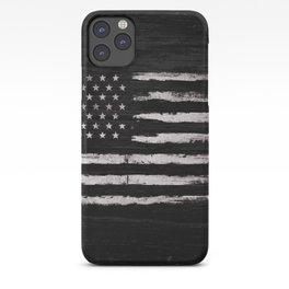 American flag White Grunge iPhone Case