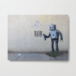 Banksy Robot (Coney Island, NYC) Metal Print