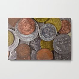 Germany - Deutschmark Old Coins Metal Print