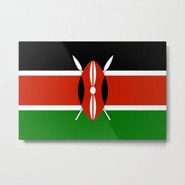Kenyan flag of Kenya Metal Print