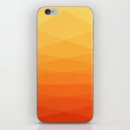 Orange and yellow ombre polygonal geometric pattern iPhone Skin