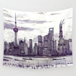 Shanghai. China. Pudong 2013 Wall Tapestry