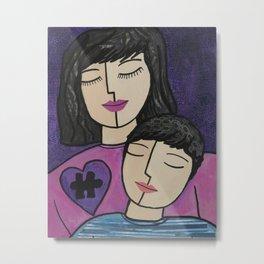 Autism Mom and Son Metal Print