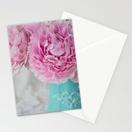 Peony Afternoon 3 Stationery Cards