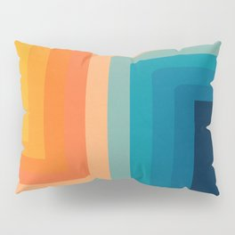 Retro 70s Color Lines Pillow Sham