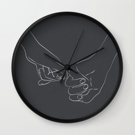 Pinky Promise IX Wall Clock