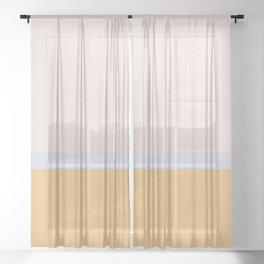 Summer Dream Color Block Sheer Curtain