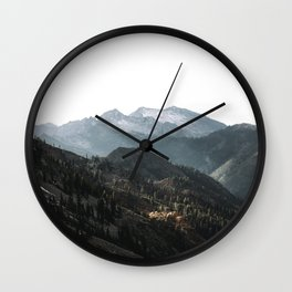 Blue Trinities Wall Clock