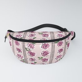 romantic rose pattern – sweet midcentury flowers Fanny Pack