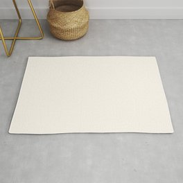 Pale Cream Off-White Plain Vanilla Solid  Rug