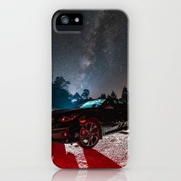 'Milky Way Over Car' iPhone Case