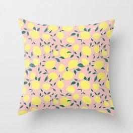 Squeeze a Lemon Throw Pillow