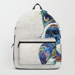 Colorful English Bulldog Art By Sharon Cummings Backpack