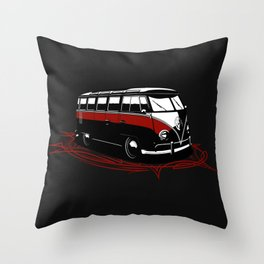 23 Window Bus Throw Pillow