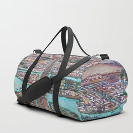 Mural of the Aztec city of Tenochtitlan by Diego Rivera Duffle Bag