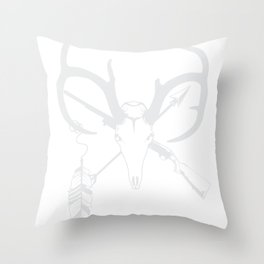 West deer feather bow weapon hunting USA gift Throw Pillow