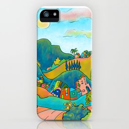 Green Hills Town iPhone Case
