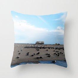 Mexican Beach Throw Pillow