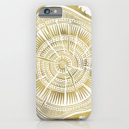 Paper Birch – Gold Tree Rings iPhone Case