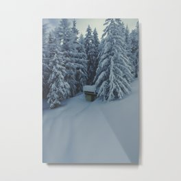 Winter mountain landscape in the Alps Metal Print