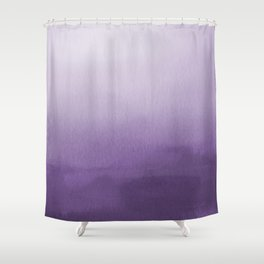 Inspired by Pantone Chive Blossom Purple 18-3634 Watercolor Abstract Art Shower Curtain