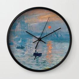 Claude Monet - Impression Sunrise Wall Clock
