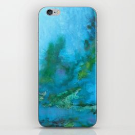 Light Blue Monet´s Theme of Waterlilies iPhone Skin