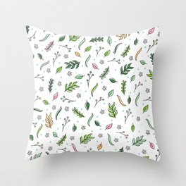 Scattered Floral Throw Pillow