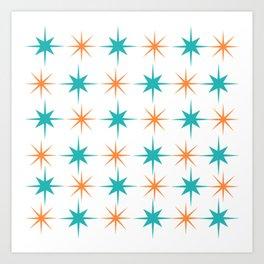 Mid-Century Modern Art Starburst 1.0 Art Print