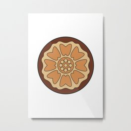 White Lotus Tile Metal Print