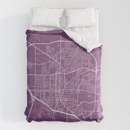 Denton Map, USA - Purple Comforters