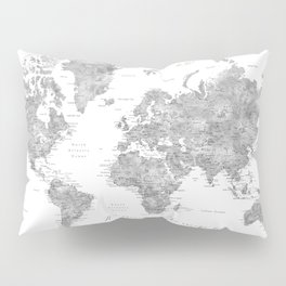 We travel not to escape life grayscale world map Pillow Sham