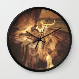 The Lament For Icarus By Herbert James Draper Wall Clock