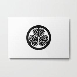 Tokugawa Clan · Black Mon Metal Print