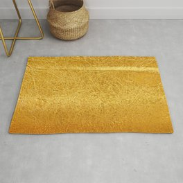 Crinkled Gold Foil Texture Christmas/ Holiday Rug