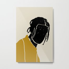 Black Hair No. 1 Metal Print
