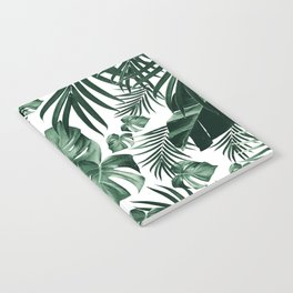 Tropical Jungle Leaves Pattern #4 (2020 Edition) #tropical #decor #art #society6 Notebook