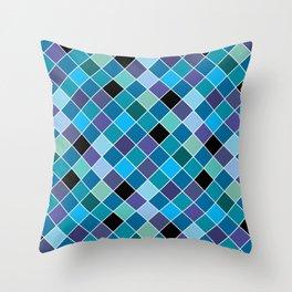 Mosaic on glass 11 Throw Pillow
