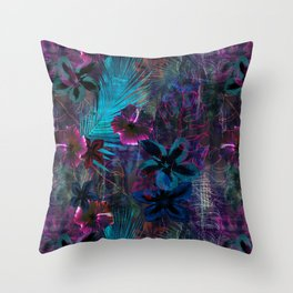Haleiwa Tropical Purple Throw Pillow