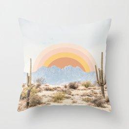 Arizona Sun rise Throw Pillow