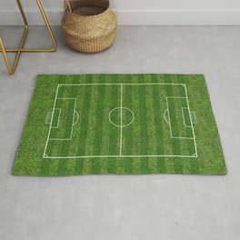 Soccer (Football) Field  on the grass Rug