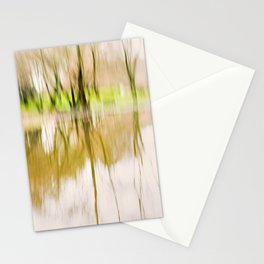 Wood Light Painting - Reflex in the Water. Stationery Cards